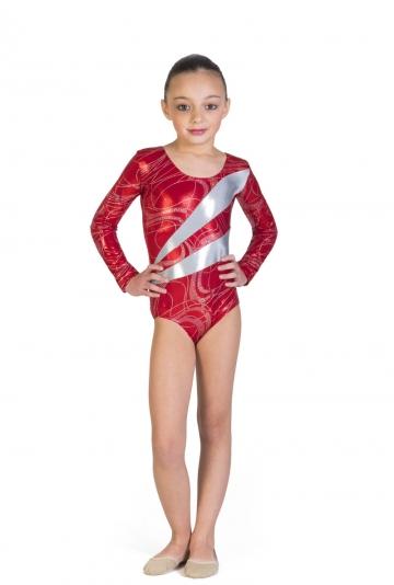 Lichaam voor gymnastiek in lycra-gelamineerd