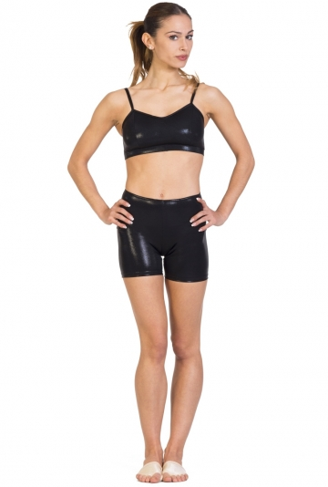 Short danza in lycra laminata -
