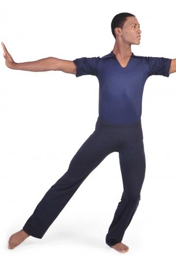 Body danza maschile con collo camicia M919 -