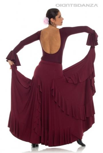 Rok voor flamenco met ruches FL 2020