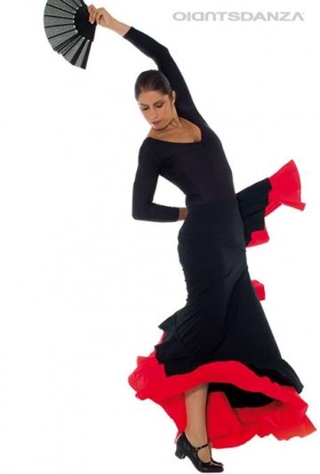 Rok flamenco dubbele ruches FL 2022