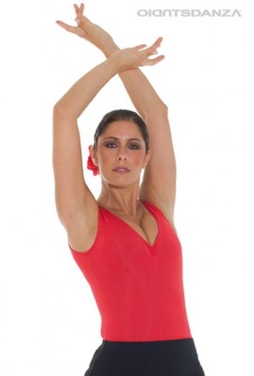 Lichaam flamenco mouwloze top B1053