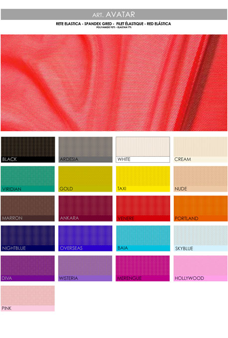 Color chart rete elastica